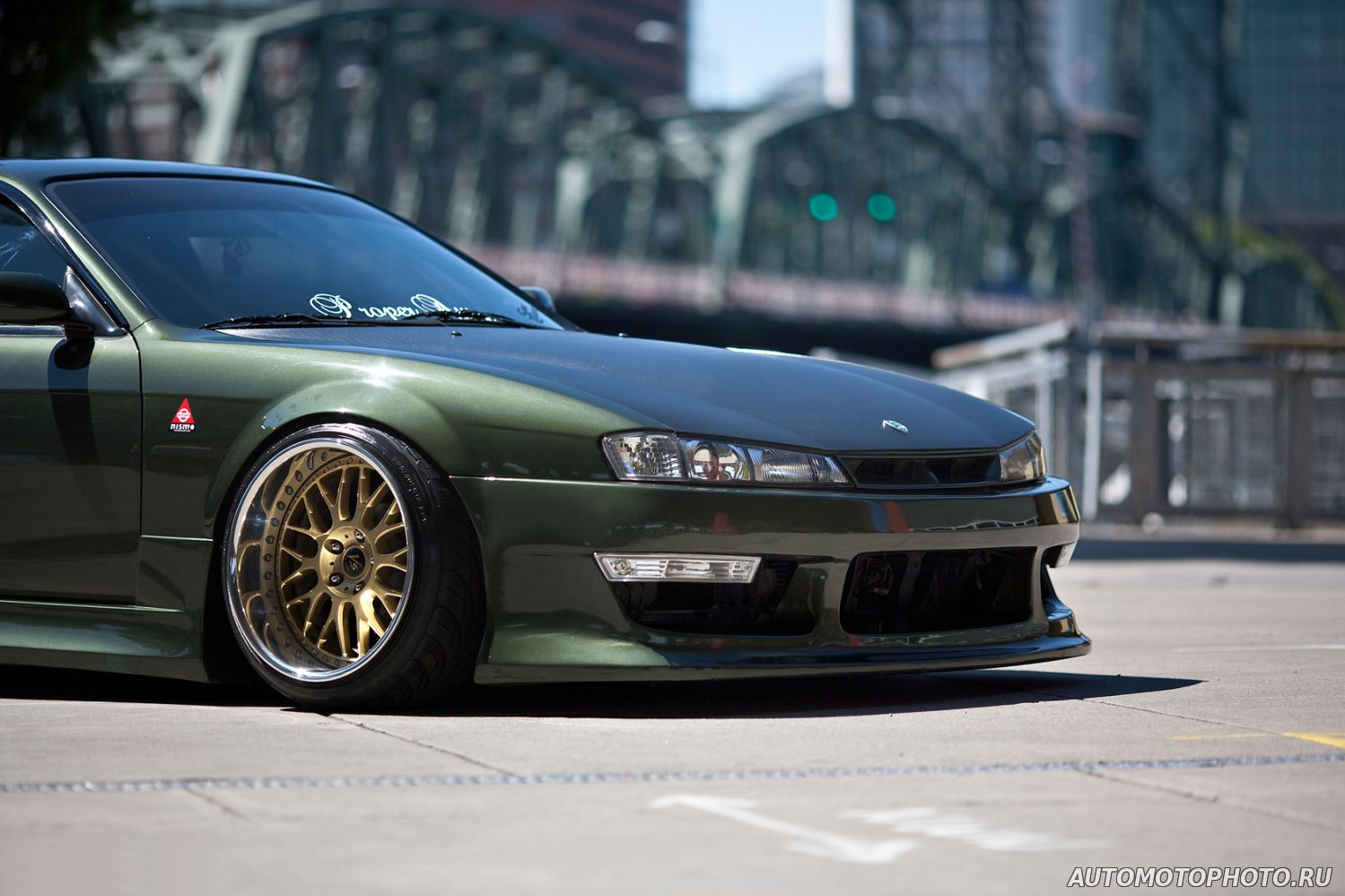 Nissan Silvia S14 On Work Wheels Vsxx